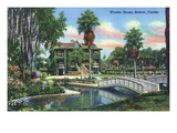 Bartow, Florida - Wonder House Exterior View Art by  Lantern Press