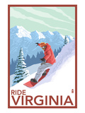 Virginia - Snowboarder Scene Prints by  Lantern Press