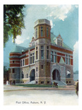 Auburn, New York - Post Office Exterior View Print by Lantern Press 