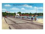 Clearwater, Florida - Million Dollar Causeway Fishing Scene Kunstdruck von  Lantern Press