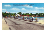 Clearwater, Florida - Million Dollar Causeway Fishing Scene Poster by  Lantern Press