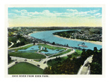 Cincinnati, Ohio - Eden Park View of Ohio River Prints by  Lantern Press