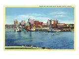 Tampa, Florida - Skyline View from Davis Island Poster von  Lantern Press