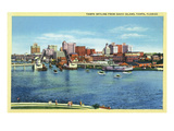 Tampa, Florida - Skyline View from Davis Island Posters by  Lantern Press