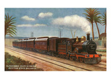 Egypt - Egyptian State Railways Alexandria-Cairo Express Train Print by  Lantern Press