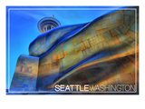 Seattle, Washington - Emp and Space Needle Prints by  Lantern Press