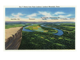 Lookout Mountain, Tennessee - View 7 States from Point Lookout: AL, TN, KY, VA, NC, SC, GA Prints by  Lantern Press