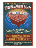 New Hampshire Wooden Boats Posters by Lantern Press