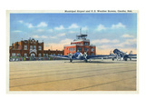 Omaha, Nebraska - View of Municipal Airport and US Weather Bureau Posters by  Lantern Press