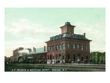 Oneida, New York - New York, Ontario, and Western Train Depot Prints by  Lantern Press