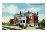 Welland, Ontario - Welland County Hospital Exterior Art by  Lantern Press
