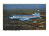 View of Continental Airlines Convair-Liner Flying Art by  Lantern Press