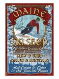 Maine Ski Shop Poster von  Lantern Press