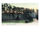Deland, Florida - College Arms Exterior View Prints by Lantern Press