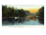 Silver Springs, Florida - Boat on the Boiling Spring Posters by  Lantern Press