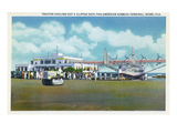 Miami, Florida - Tractor Hauling a Pan American Clipper Poster by  Lantern Press