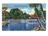 Silver Springs, Florida - View of Electric Glass Bottom Boats Poster von  Lantern Press