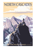 North Cascades, Washington - Mountain Peaks Giclée-Premiumdruck von  Lantern Press