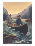 Canoe on River Posters by  Lantern Press