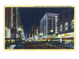 Los Angeles, California - Southern View Down Broadway from 6th Posters by  Lantern Press
