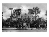 St. Augustine, Florida - Hotel Alcazar Front Entrance View Prints by  Lantern Press