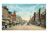 Auburn, New York - Eastern View Down Genesee Street Posters by  Lantern Press