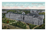 Battle Creek, Michigan - Sanitarium Exterior Aerial View Prints by Lantern Press