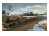 India - View of the Bombay-Poona Mail Train Prints by  Lantern Press