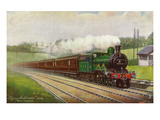 England - Great Northern Railways Flying Scotchman Train Near Hatfield Posters por  Lantern Press