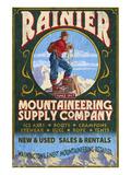 Mount Rainier - Mountaineering Supply Company Prints by  Lantern Press