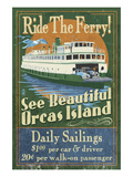 Orcas Island, Washington - Ferry Ride Posters by  Lantern Press