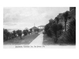 Sea Breeze, Florida - Clarendon Inn and Boardwalk View Prints by  Lantern Press
