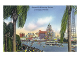 Tampa, Florida - Gasparilla Entering the Harbor Scene Affiches par Lantern Press