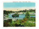 Cleveland, Ohio - Rockefeller Park Scene Prints by  Lantern Press
