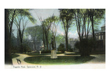 Syracuse, New York - Scenic View of Statue in Fayette Park Prints by  Lantern Press