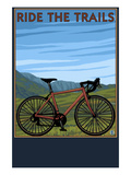 Bicycle - Plains Prints by  Lantern Press