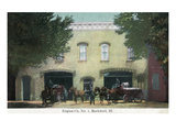 Rockford, Illinois - Fire Engine Company No 1, Horse Carriage Posters by  Lantern Press