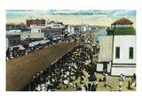 Long Beach, California - Crowds at the Band Stand and Pergola Posters by  Lantern Press
