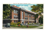 Rochester, Minnesota - Exterior View of the Front of the High School Prints by  Lantern Press