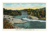 Keshena Falls, Wisconsin - Wolf River Near Shawano Scene Prints by  Lantern Press
