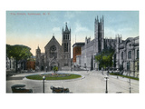 Syracuse, New York - View of the Public Circle Print by  Lantern Press