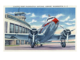 Washington DC - Washington National Airport Ramp Print by  Lantern Press