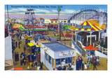 San Diego, California - Mission Beach Amusement Center Scene Prints by  Lantern Press