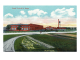 Battle Creek, Michigan - Grand Trunk Railroad Shops Scene Prints by Lantern Press