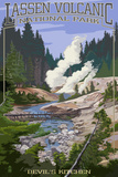 Devil's Kitchen - Lassen Volcanic National Park, CA Láminas por  Lantern Press