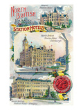 Great Britian - North British Railway Company Station Hotels in Perth, Edinburgh, and Glasgow Prints by  Lantern Press