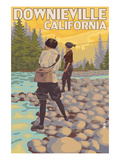 Downieville, California - Women Fishing Posters by  Lantern Press