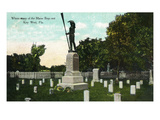 Key West, Florida - Cemetery with Uss Maine Sailors Monument Posters by  Lantern Press