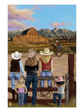 Cowgirls Scene Art by  Lantern Press