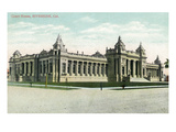 Riverside, California - Exterior View of the Court House Prints by  Lantern Press